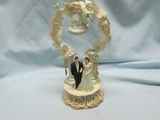Vintage 1940's Bride and Groom Cake Topper All Original Condition OOAK