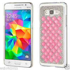 Pink 3D Diamante Snap Fit Case Back Cover for Samsung Galaxy Grand Prime G530