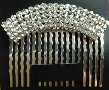 A Stunning Silver Diamanté Hair Comb For Wedding/Bride/Prom