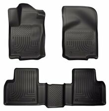 Floor Mats 2012-2016 Mercedes-Benz GL | 12-2015 ML350 Black Husky WeatherBeater
