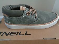 O'Neill mens Amped canvas olive trainers sneakers shoes uk 6 eu 39 us 7 NEW+BOX