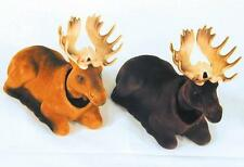 LIGHT BROWN MOOSE BOBBING HEADS moving bobble head animal wild car dash new toy