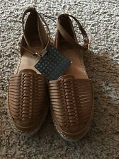 "dv dolce vita womens ""Skye"" d'orsay loafers espadrille flats shoes 7.5 M brown"