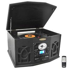 NEW Pyle PTCDS7UIB Turntable w/ CD Cassette AM/FM iPod Player & MP3 Converter