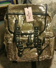 JUICY COUTURE - Gold Sequined - Backpack School Sequin Bookbag NWT retail $99