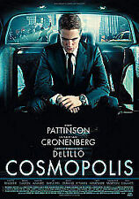 Cosmopolis (DVD, 2012) robert pattinson, region 2 uk dvd, brand new sealed