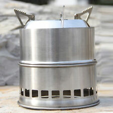 New Portable Steel Wood Gas Burning Outdoor Camping Picnic Stove Biomass cooker