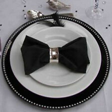 Set Of 8 Black Radiant Diamante Decorative Charger Dinner Table Under Plates Set