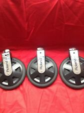 Free P&P. A Set Of 3 Roland PD-8 Pads for Electronic Drum Kit.
