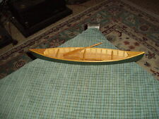 Vintage CANOE W/ PADDLES Wood Art Model Sculpture Nautical Decor Collector VG !
