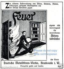 Metalltüren Brackwede Reklame von 1909 feuerfest Feuer Brand Brandschutz Werbung