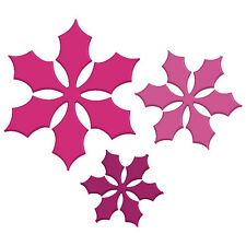CRAFT CONCEPTS Universal Dies NESTED POINSETTIA LEAVES 3 IN 1 CR371234 Cut Embos