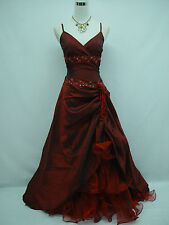 Cherlone Red Ballgown Wedding Formal Evening Full Length Bridesmaid Dress 8-10