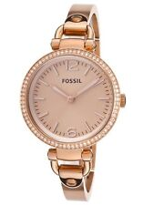 Fossil Women's ES3226 Georgia Analog Rose Gold-Tone Steel Bangle Bracelet Watch