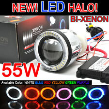 "NEW 3.0"" Motorcycle Bike HID Bi-Xenon Projector LED Halo AC Ballast H1 H4 H7 55W"