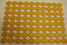 80 pc Old German Halloween Pumpkin Diecuts - A Full Sheet - Party Decorations