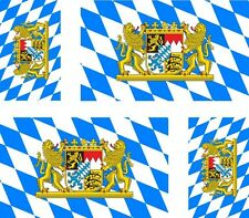 4x sticker Adesivo Adesivi decal Vinyl auto moto bandiera Baviera germania