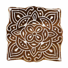Indian Decorative Floral Wooden Textile Stamps Wood New Indian Printing Block