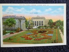 1920's The City Hall Floral Gardens in Jackson, MS Mississippi PC