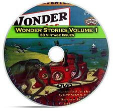 Wonder Stories, Vol 1, 38 Classic Pulp Magazine, Golden Science Fiction DVD C61