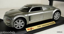 MAISTO 1/18 - 31625 AUDI SUPERSPORTWAGEN 'ROSEMEYER' SILVER DIECAST MODEL CAR