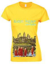 Mejor destinos en el mundo Angkor Siem Reap Camboya Ladies Tshirt Top AG20