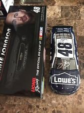 Jimmie Johnson & Chad Knaus AUTOGRAPHED 1/24 Lowe's JJ Foundation 2014