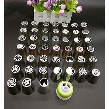 45pc Russian Tulip Flower Icing Piping Nozzles Cake Decoration Tips Baking Tool