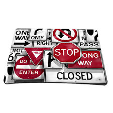 Traffic Sign Laptop Computer Mouse Pad Mice Mat Mousepad For Optical Laser Mouse