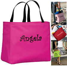 Personalized Tote Bag Monogram Bride Bridesmaid Gift Wedding Teacher Curlz Font