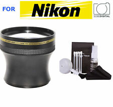 52MM HD TELEPHOTO ZOOM LENS FOR NIKON DSLR D40 D60 D70 D80 D90 FREE SHIPPING