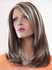 Forever Young Wig in Light Chestnut Brown with Golden Blonde Swirls Color SH24/8
