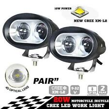 1 pair of 4D 20 Watt Fish Eye Car / Bike Led  Cree LED Fog Lamp White Light Spot