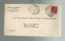 1930 Seville Spain to USA Graf Zeppelin Cover  LZ 127