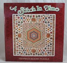 "A Stitch In Time: ""Hexagon Medallion Quilt 1820-1840 750 Piece Jigsaw Puzzle"