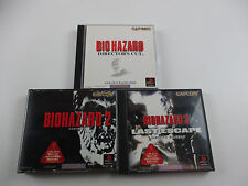 Biohazard Resident evil 1 2 3 Director's Cut SET Playstation PS Japan Ver