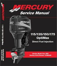 2000-2014 Mercury 115 - 135 - 150 - 175 OptiMax Outboard Motor Service Manual CD