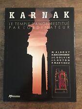 Karnak, Le Temple D'Amon Restitue' Par L'ordinateur - 1989 Hardcover Book