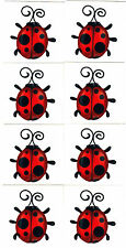 LADYBUGS, BLACK & RED- 8 Temporary Tattoos/Good Luck, Insects, Ladybugs,Party