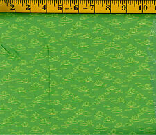 Fishing Buddies All over Green Tonal Lilly Pads by SusyBee Cotton Quilt fabric