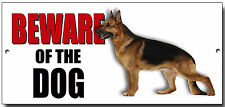 "ALSATIAN ""BEWARE OF THE DOG"" METAL SIGN,SECURITY,WARNING."