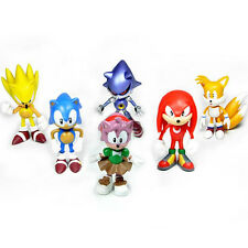 Cute 6pcs Sonic the Hedgehog Action Figures Doll Kids Children Boy Girl Xmas Toy