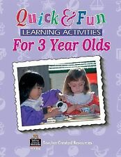 Quick & Fun Learning Activities for 3 Year Olds (Quick & Fun Series) by Jasmine