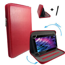 360° 7 zoll Tablet Tasche Hülle - Point of View Mobii Kids - Zipper Rot 7