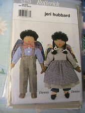 DANNY & DENISE~Jeri Hubbard~Butterick *RARE OOP NEW~1995 cloth art doll pattern