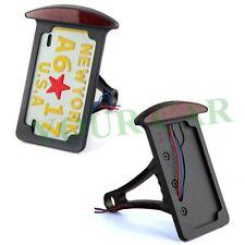 SIDE MOUNT LICENSE PLATE BRACKET - LED LIT FOR MOTORCYCLE VERTICAL OR HORIZONTAL