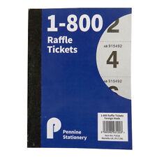 Raffle, Tombola, Prize Draw, Cloakroom Ticket Book - 1 to 800 – Size 147 x 110mm