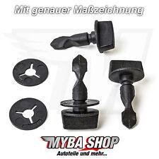 2x Befestigungs Clip Schrauben Bolzen + Scheibe für Audi VW 6Q0807643 6N0129355