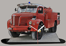 MINIATURE CAMION DE POMPIER BERLIET, pompier-berliet-08 en horloge