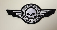 "Harley Davidson Patch patch ""scull & Wings"" nuevo + rar"